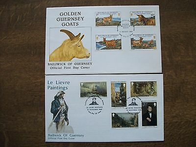 Guernsey 1980 Golden Goats & Christmas First Day Covers