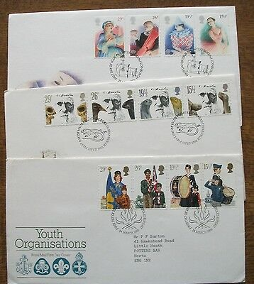 GB 3 x First Day Covers from 1982