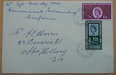 GB 1961 Parliamentary Conference on plain First Day Cover