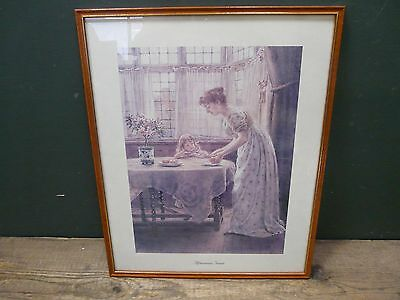 Framed art print: George Goodwin Kilburne Afternoon Treat 43x53cm to collect A98