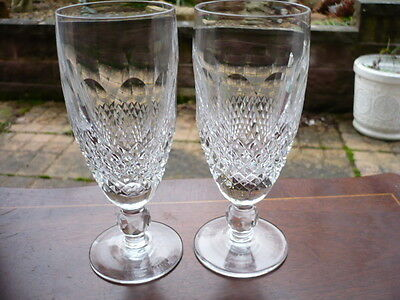 2 Waterford Crystal Champagne Flutes ( Colleen Pattern )