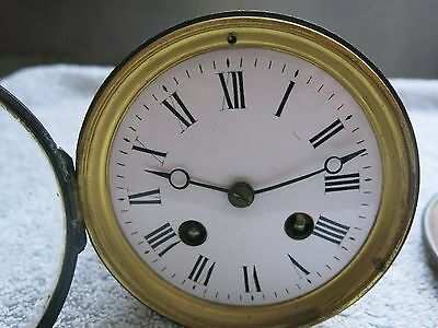 19th CENTURY ANTIQUE JAPY FRERES FRENCH 8 DAY STRIKING MOVEMENT MANTEL CLOCK