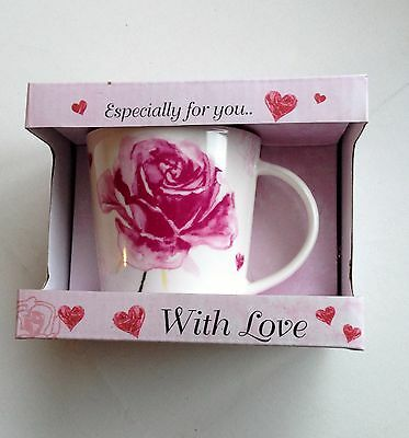 Vintage Lane Rose With Love Mug Ideal Birthday Anniversary Gift All Celebrations