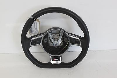 2010 AUDI A3 8P Multifunctional Flat Bottom Black Leather S Line Steering Wheel