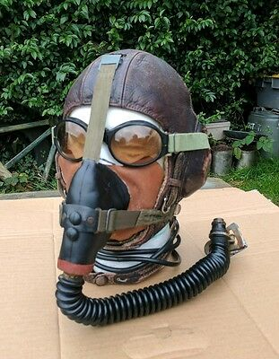 ww2 Luftwaffe bomber pilots flying helmet set