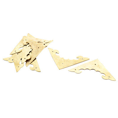 Family Metal Gift Box Cabinet Embellishment Corner Protector Gold Tone 8pcs