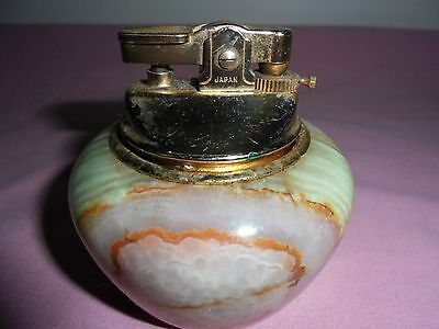 Retro Kingsway Round Onyx Table Lighter