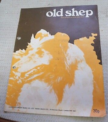 Vintage 1940 Old Shep  Sheet Music Words & Music By Clyde Red Foley