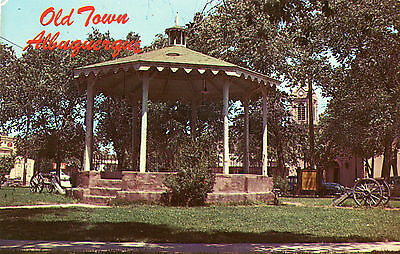 "Vintage Albuquerque Nm ""bandstand On Old Town Plaza"" Unused Postcard"