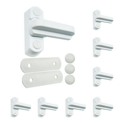 8  White Sash Blockers Jammers for UPVC Extra Security for Windows & Doors