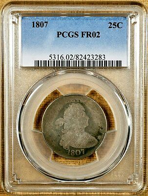 1807 B-2 PCGS FR02 Draped Bust Quarter