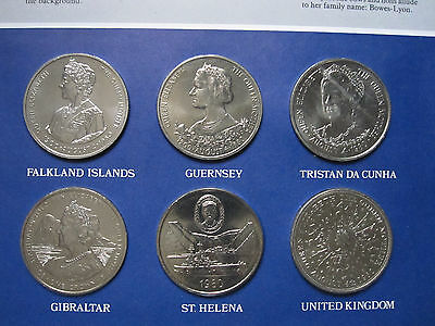 1980 The Queen Mother 80th Birthday 6 Crown Set in Royal Mint pack Falkland I -2