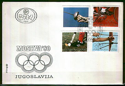 1826 -Yugoslavia 1980 - Moscow Summer Olympic Games - FDC