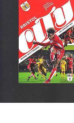 PROGRAMME - BRISTOL CITY v READING - 2 JANUARY 2017