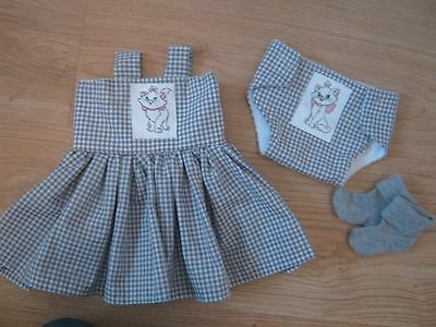 "Dolls Clothes 18"" - Fits Baby Annabel - Aristocats -  Handmade - New"