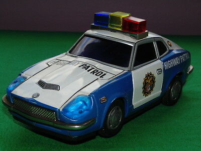 Vintage Modern Toys 4502 Police Car Battery Operated Toy Made Masudaya Japan