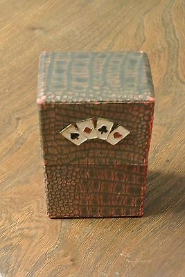 Vintage Playing card case with GERMAN card pack ??UNKNOWN GAME CARDS (PM066)