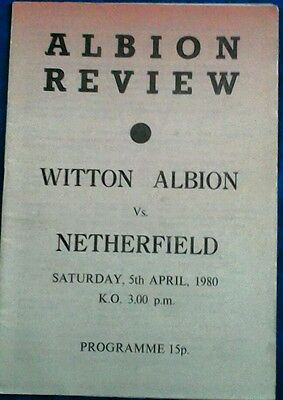 WITTON ALBION v NETHERFIELD. 5/4/1980