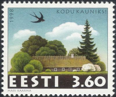 Estonia 1998 House/Buildings/Homes/Barn Swallow/Birds/Nature 1v (ee1194)