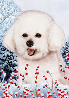 Large Indoor/Outdoor Winter Flag - Bichon Frise 15037