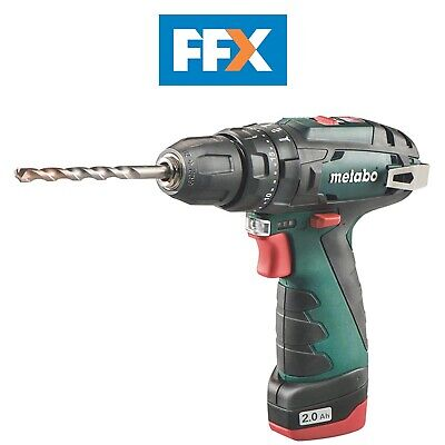 Metabo PowerMaxx SB 10.8v Li-ion Combi Drill Keyless Chuck and 2 x 2.0Ah