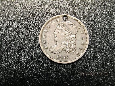 1837 Capped Bust Silver Dime - Love Token