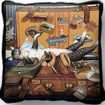 "17"" x 17"" Pillow - Mabel the Stowaway 1666"
