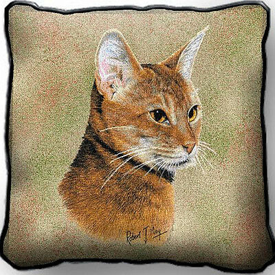 "17"" x 17"" Pillow - Abyssinian Cat 1957"