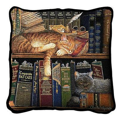 "17"" x 17"" Pillow - Remington the Well Read 2877"