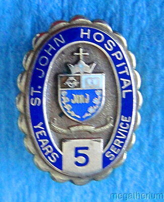 Vintage Hospital Employee Service Pin: ST JOHN HOSPITAL; Gold Filled