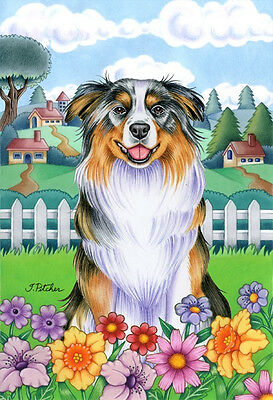 Garden Indoor/Outdoor Spring Flag (TP) - Australian Shepherd 730741