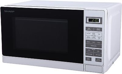 NEW Sharp R-220WM Solo Microwave with 5 Power Levels 20L 800W - White