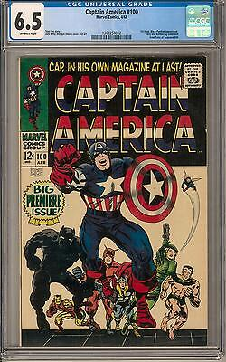 Captain America #100 CGC 6.5 (OW) 1st Issue Black Panther Appearance