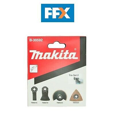 Makita B-30592 4pc Tiling Multi Tool Blade Set