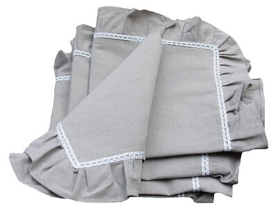 Xia Home Fashions Ruffle Trim Table Napkin XIAH1742 Set of 4