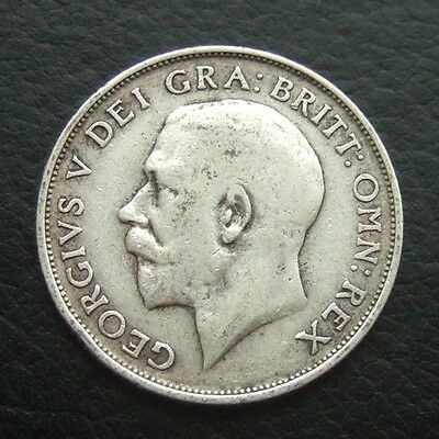 Gb 1911 Shilling : King George V Sterling Silver Coin #30