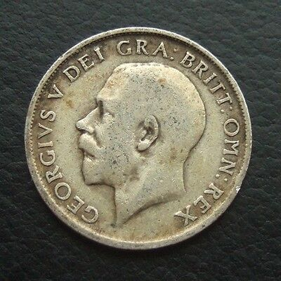 Gb 1912 Shilling : King George V Sterling Silver Coin #30