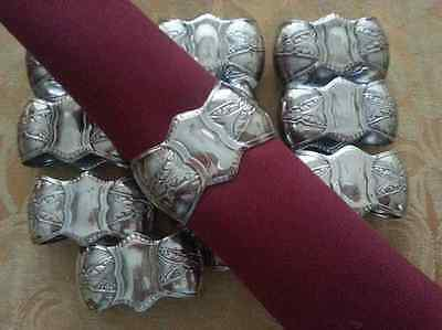 Vintage Silver Plated Set of 12 Napkin Ring Holders