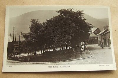 Real Photo Postcard : Wales, The Park, Blaengarw : Welsh Mining Valley