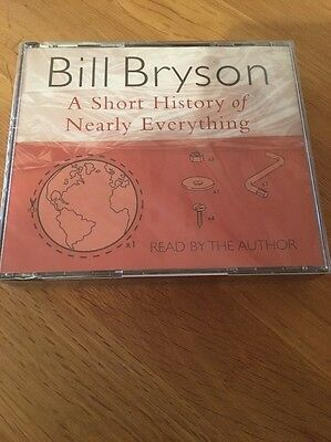 Bill Bryson A Short History Of Nearly Everything Audio Book 5 Cd New