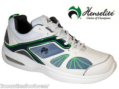 Mens HENSELITE Tiger Sports42 Lawn Bowl Trainers  rrp £80