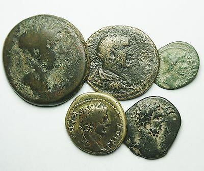 Interesting Selection Of 5 Roman Provincial Coins (798M)