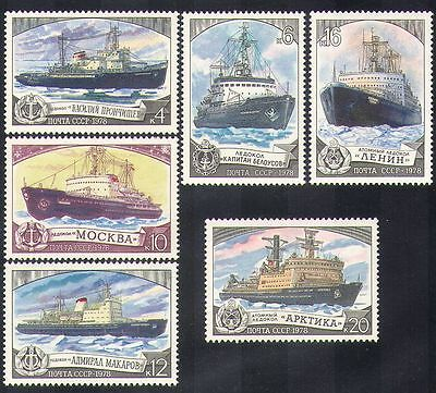 Russia 1978 Ice-breakers/Ships/Boats/Maritime/Transport/Nautical 6v set (b3484)
