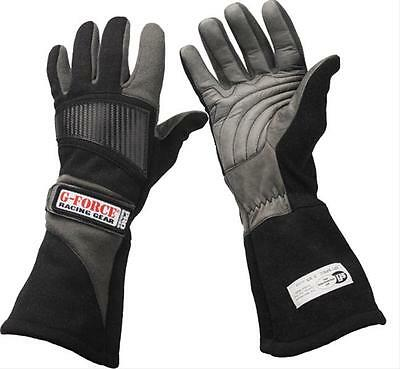 G-FORCE Racing Gloves Pro 5 Double Layer Nomex/Leather Black 2X-Large Pair