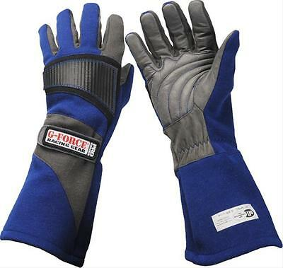 G-FORCE Racing Gloves Pro 5 Double Layer Nomex/Leather Blue X-Large Pair