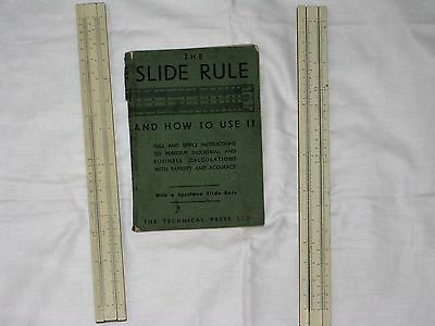 The Slide Rule and How to Use It + 2 Vintage Slide Rules