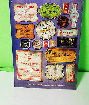 Oddities K&c Company Potion Labels Die-Cut G Specimens Halloween Sideshow Gaff