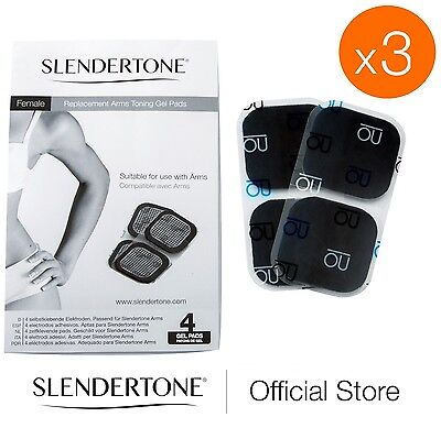 Slendertone Replacement Pads Female Arms 3 FOR 2 OFFER 3 full sets of pads