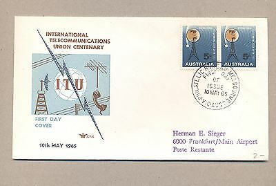 Australia 1965 FDC cover.Space 100 Years UIT.Lot 17.
