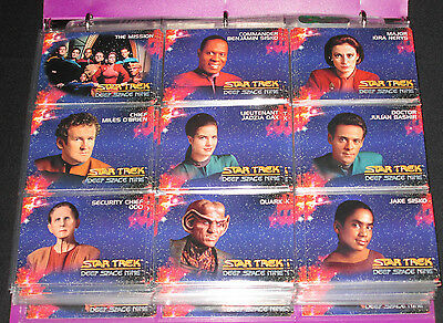 99 Different 1993 Star Trek Deep Space Nine Collectible Trading Cards + Dupes